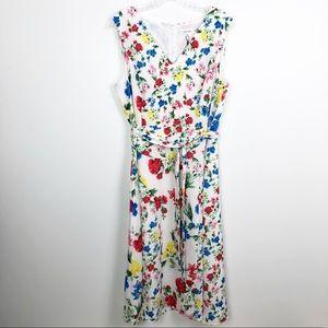 Calvin Klein Sleeveless Floral A-Line Dress 14